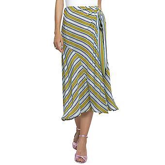 ASTR | Teagan randig midi kjol