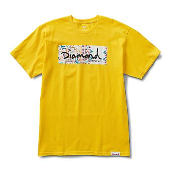 Diamond Supply Co Paisley Box Logo T-shirt Jaune