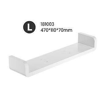 Storage Rack Shelf For Bathroom And  Kitchen Seasoning Debris Rack Shower - Wall-mounted Self-adhesive White