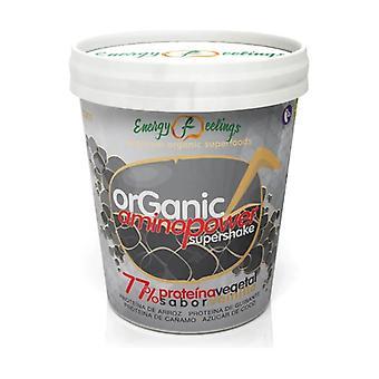 Biologische Aminopower supershake 77% plantaardig eiwit 250 g poeder (Vanille)