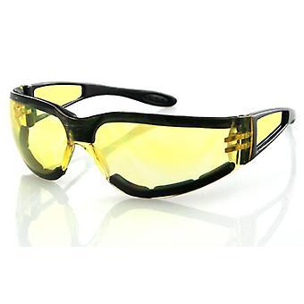 Balboa ESH204 Black Frame Shield II Sunglass - Yellow Lens