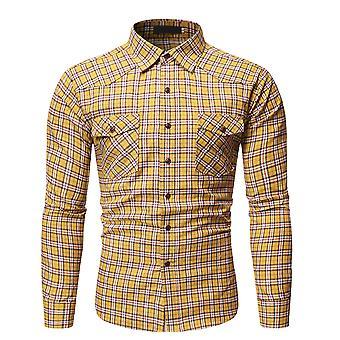 YANGFAN Men's Shirt Casual Loose Lapel Top