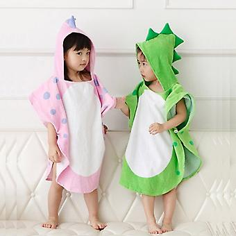 Baby Cartoon Dinosaur Ponchos Hooded, Halat de baie Pijamale
