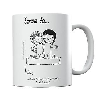 El amor también es ser el uno a los otros mejor amigo taza