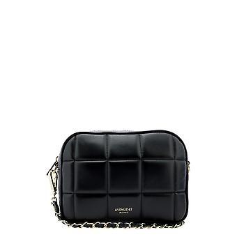 Avenue 67 Cloe1 Women's Black Leather Shoulder Bag