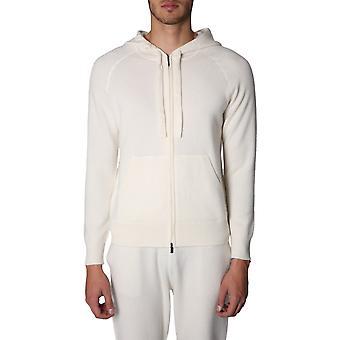 Z Zegna Zz478vrw10n01 Men's White Cashmere Sweatshirt