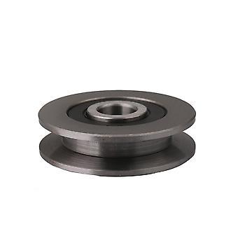 Slide Flexible Flat Groove Pulley Ball Bearing Black 6301 Type 50mm OD