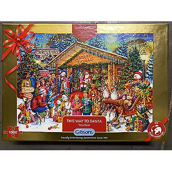 Gibsons This Way to Santa Christmas 2020 Limited Edition 1000 Piece Jigsaw Puzzle