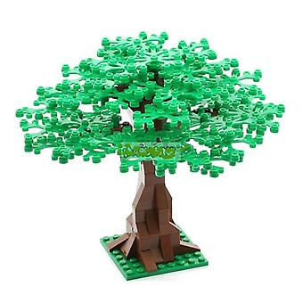102pcs الطوب شجرة خضراء بوش زهرة، العشب النباتات حديقة مدينة متوافقة