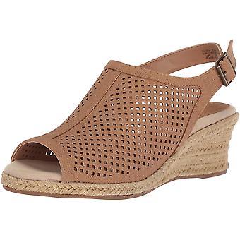 Einfache Straße Frauen's Stacy Keil Sandale, tan Leinen Druck, 10 N US
