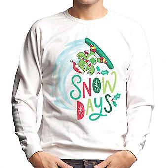 Care Bears Desbloqueiam os dias mágicos de neve de Natal Men's Sweatshirt