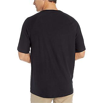Essentials Men's Regular-Fit Slub Raglan Crew T-shirt, Sort, X-Large