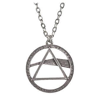 Pink Floyd-Necklace Anhänger Dark Side of Moon Prisma offizielle Alchemie Silber