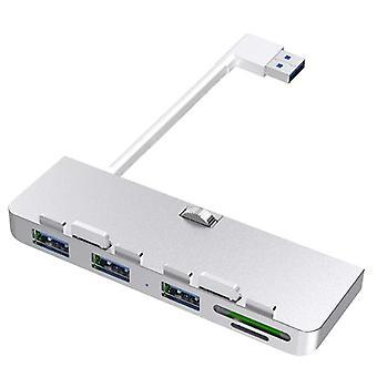 Divisor adaptador de alumínio Rocketek USB 3.0 Hub 3 com placa Sd/tf