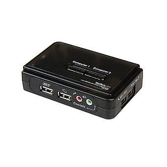 Startech.com 2-poorts usb vga kvm-switch - single vga - hot-key & audio-ondersteuning - 2048x1536 @60hz kvm