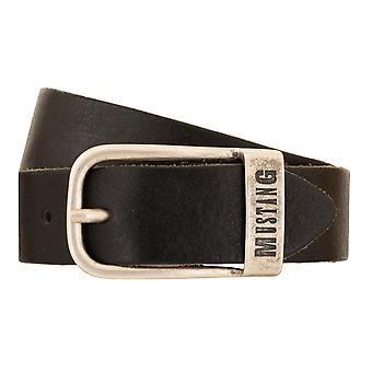 MUSTANG bälten mäns bälten läder bälte svart 2217