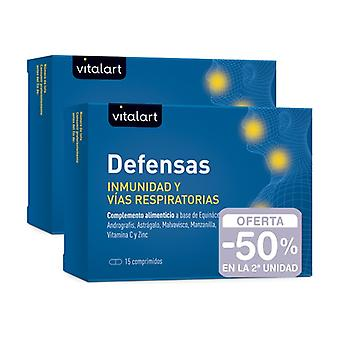 Vitalart Pack Immunity and respiratory defenses 2x15 tablets
