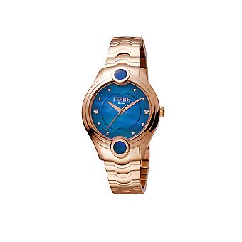 Ferre Milano Ladies D.Blue MOP Dial RG Watch