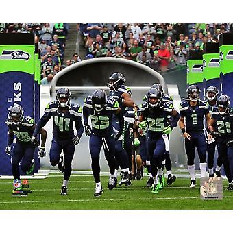 Seattle Seahawks 2014 équipe Introduction Photo Print