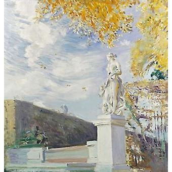A Statue of Venus In The Garden of Versailles Poster Print by  Paul Cesar Helleu