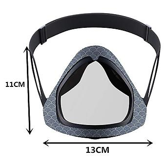 Openable Transparent Mask Face Mask Adjustable Reusable Mask Head-mounted Mask