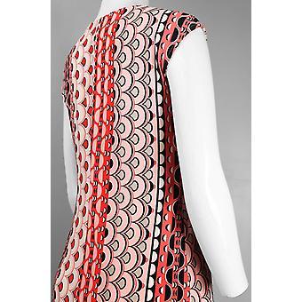 cap ermet blandet print lår lengde jersey kjole