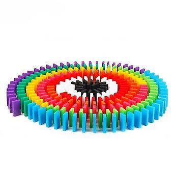Rainbow Wood Domino Blocks pedagogiska leksaker