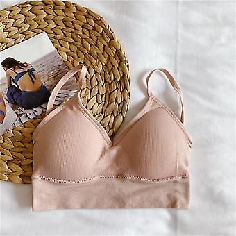 sømløs elastisk ryggløs polstret undertøy kvinnelig undertøy streetwear