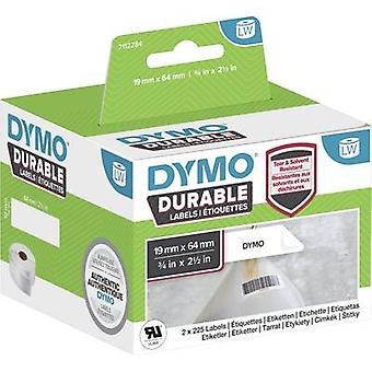 DYMO 2112284 Label roll 64 x 19 mm PE film White 900 pc(s) Permanent All-purpose labels, Address labels