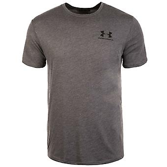 Under Armour Mens Sportstyle T-Shirt Casual Gym Running Charcoal Top 1326799 019