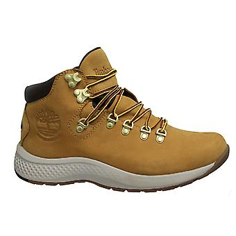Timberland Aerocore Mid Hiker Waterproof Leather Wheat Lace Up Mens Boots A1RLZ