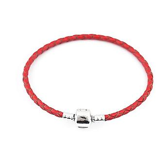 Leder Charm Armband