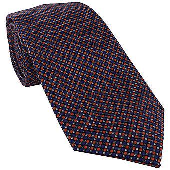 Michelsons of London Vibrant Spot Silk Tie - Arancione