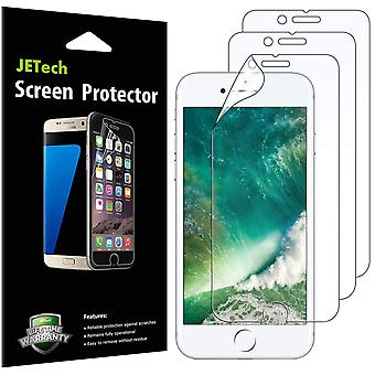 Jetech screen protector for apple iphone 8 plus and iphone 7 plus, pet film, 3-pack