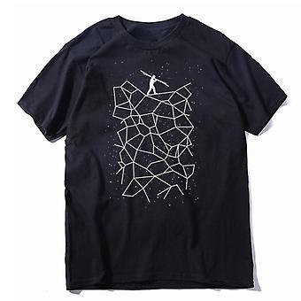 Fokus Druck Männer T Shirt