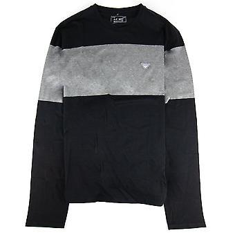 Armani Jeans Eagle Logo L/s T Shirt Schwarz
