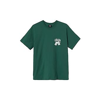 Stussy Dominoes S/S T-Shirt Green - Clothing