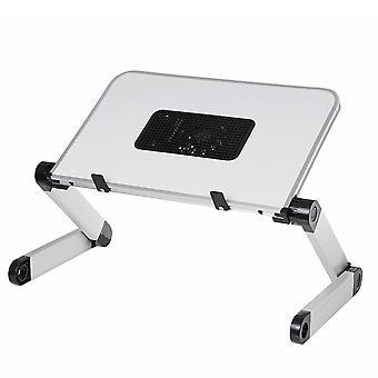 50*26Cm enlarge foldable with cooling fan hole aluminum laptop computer desk table tv bed computer mackbook desktop holder