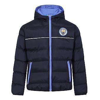 Manchester City Jungen Jacke Kapuzen Winter gesteppte Kinder OFFIZIELLE Fußball Geschenk