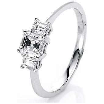 Luna Creation Fantasy Ring Multiple Stone Trim 1J562W853-1 - Ring Width: 53