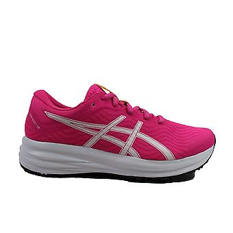Asics Patriot 12 GS Pink/White Mesh Childrens Lace Up Running Trainers