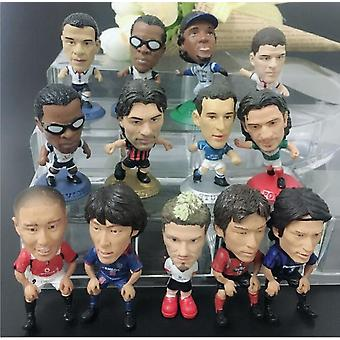 Cartoon Football Player Star Models 4.5cm Hobby Collections Home Decoration