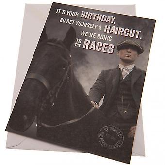 Peaky Blinders Races Birthday Card