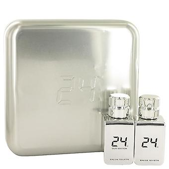 24 Platinum The Fragrance Gift Set By Scentstory 24 Platinum 1.7 oz Eau De Toilette Spray + 24 Platinum Oud 1.7 oz Eau De Toilette Spray