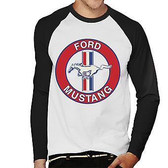 Ford Mustang Disc Logo Mannen >> Honkbal T-Shirt met lange mouwen