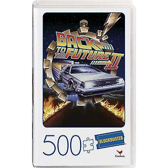 Back to the Future II Movie 500-Piece Puzzle in Plastic Retro Blockbuster VHS Video Case