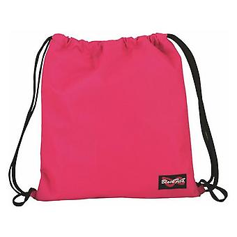 Backpack with strings blackfit8 plain pink