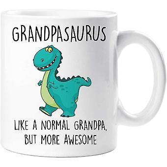 60 Second Makeover Grandpasaurus Mug Grandpa Dinosaur Fathers Day Funny Mug Present Birthday