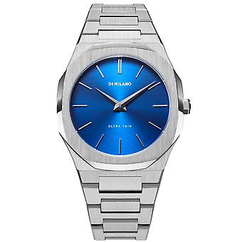 D1 Milano D1-utbj09 Ultra Thin Geo Blue & Silver Stainless Steel Mens Watch