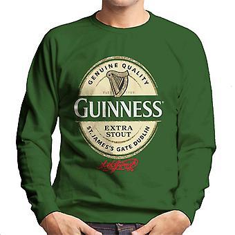Guinness Extra Stout Label Logo Men's Sweatshirt